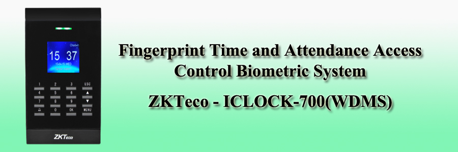 ZKTeco Fingerprint Time and Attendance Access Control Biometric System - ICLOCK-700(WDMS)