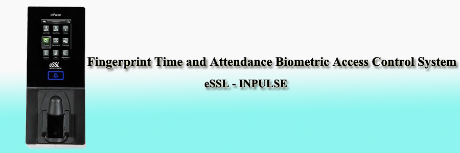 eSSL Fingerprint Time and Attendance Biometric Access Control System - INPULSE