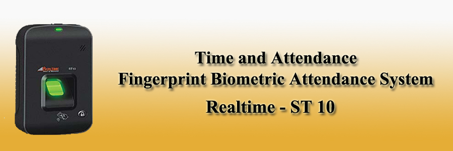 Realtime Time and Attendance Fingerprint Biometric Attendance System - ST10