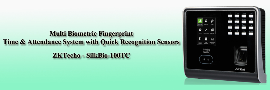 ZKTecho Multi Biometric Fingerprint Time & Attendance System with Quick Recognition Sensors - SilkBio-100TC