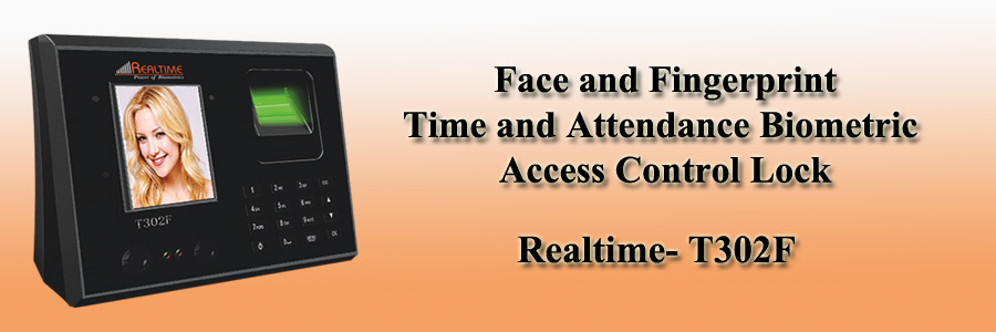 Realtime Face and Fingerprint Time and Attendance Biometric Access Control Lock - T302F