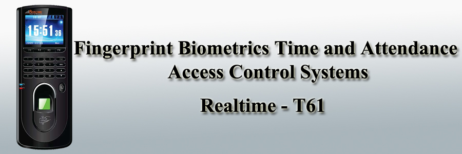 Realtime Fingerprint Biometrics Time and Attendance Access Control Systems - T61