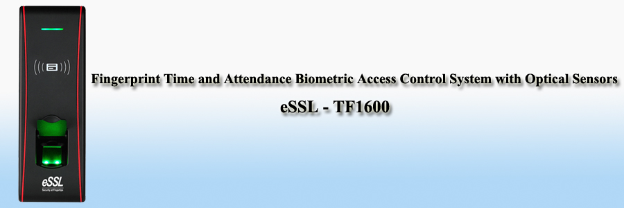 eSSL Fingerprint Time and Attendance Biometric Access Control System with Optical Sensors - TF1600