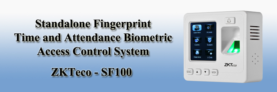 ZKTeco Standalone Fingerprint Time and Attendance Biometric Access Control System - SF100