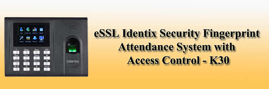eSSL Identix Security Fingerprint Attendance System with Access Control - K30