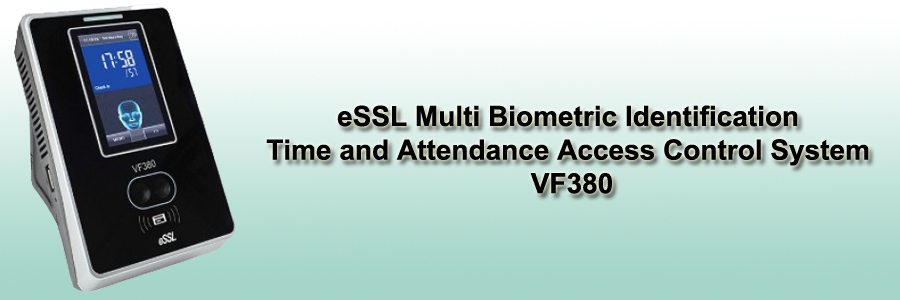 eSSL Multi Biometric Identification Time and Attendance Access Control System - VF380