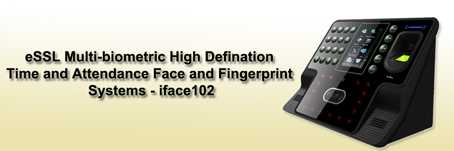 eSSL Multi-biometric High Defination Time and Attendance Face and Fingerprint Systems - iface102