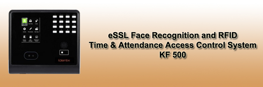 eSSL Face Recognition and RFID Time & Attendance Access Control System - KF 500